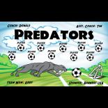 Predators Fabric Soccer Banner - E-Z Order