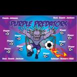 Predators Purple Vinyl Soccer Banner - E-Z Order