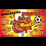 Pumpkins Smashing Vinyl Soccer Banner - E-Z Orderr