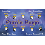 Purple Reign Vinyl Soccer Banner - E-Z Order