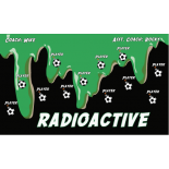 Radioactive Fabric Soccer Banner - E-Z Order
