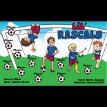 Rascals LiL Vinyl Soccer Banner - E-Z Order