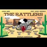 Rattlers Fabric Soccer Banner E-Z Order
