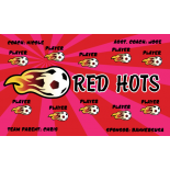 Red Hots Fabric Soccer Banner - E-Z Order