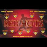 Red Hots Vinyl Soccer Banner - E-Z Order