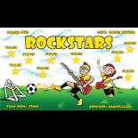 Rockstars Fabric Soccer Banner - E-Z Order