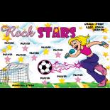 Rock Stars Vinyl Soccer Banner - E-Z Order