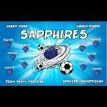 Sapphires Fabric Soccer Banner - E-Z Order