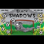 Shadows Black Vinyl Soccer Banner - E-Z Order