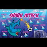 Shark Attack Vinyl Soccer Banner - E-Z Order