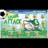 Shark Attack Vinyl Soccer Banner E-Z Order