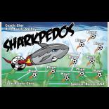 Sharkpedos Vinyl Soccer Banner E-Z Order