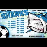 Sharks Fabric Soccer Banner E-Z Order
