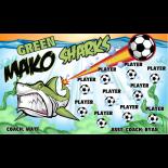 Sharks Makos Green Vinyl Soccer Banner E-Z Order
