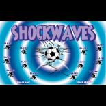 Shockwaves Fabric Soccer Banner - E-Z Order