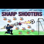 Sharp Shooters Vinyl Soccer Banner - E-Z Order