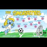 Smurfettes Vinyl Soccer Banner - E-Z Order