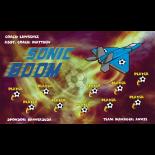 Sonic Boom Vinyl Soccer Banner - E-Z Order