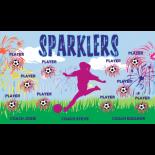 Sparklers Vinyl Soccer Banner E-Z Order