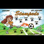 Stampede Fabric Soccer Banner - E-Z Order