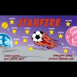 Starfire Vinyl Soccer Banner - E-Z Order
