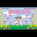 Stars Shooting Fabric Soccer Banner - E-Z Order
