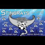 Stingrays Fabric Soccer Banner - E-Z Order