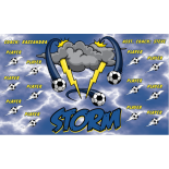 Storm Fabric Soccer Banner - E-Z Order