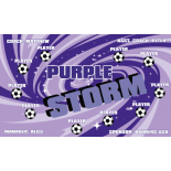 Storm Purple Vinyl Soccer Banner - E-Z Order