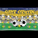 Strikers Super Fabric Soccer Banner - E-Z Order