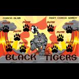 Tigers Black Vinyl Soccer Banner - E-Z Order