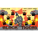 Tigers Black Fabric Soccer Banner - E-Z Order