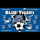 Tigers Blue Vinyl Soccer Banner - E-Z Order