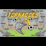 Tornadoes Vinyl Soccer Banner E-Z Order