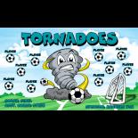 Tornadoes Vinyl Soccer Banner - E-Z Order