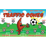 Traffic Cones Fabric Soccer Banner - E-Z Order