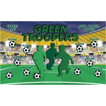 Troopers Green Vinyl Soccer Banner E-Z Order