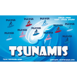 Tsunamis Vinyl Soccer Banner E-Z Order