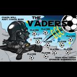 Vaders Fabric Soccer Banner E-Z Order