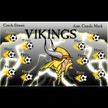 Vikings Fabric Soccer Banner - E-Z Order