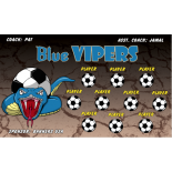 Vipers Blue Fabric Soccer Banner - E-Z Order