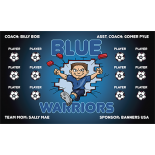 Blue Warriors Vinyl Soccer Banner - E-Z Order