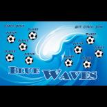 Waves Blue Vinyl Soccer Banner - E-Z Order
