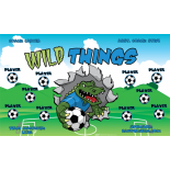 Wild Things Fabric Soccer Banner - E-Z Order