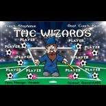 Wizards Vinyl Soccer Banner - E-Z Order
