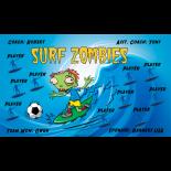 Zombies Surf Vinyl Soccer Banner - E-Z Order