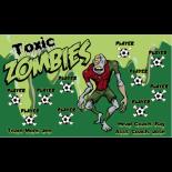 Zombies Toxic Vinyl Soccer Banner - E-Z Order