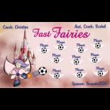 Fairies Fast Vinyl Soccer Banner - Live Designer