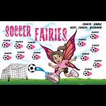 Fairies Soccer Fabric Soccer Banner - E-Z Order