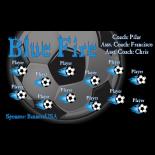 Fire Blue Fabric Soccer Banner - E-Z Order